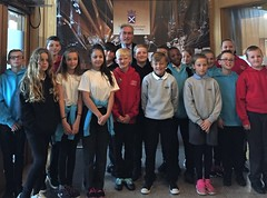 Welcoming P& pupils from Macmerry primary school to Holyrood