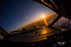 Sharp turn over the Adriatic Sea (gc232) Tags: pilots view turn cockpit adriatic sea sunset sunrise sun light livefromtheflightdeck golfcharlie232 golden hour dawn dusk clouds climb out avgeek aviation photography wallpaper captains seat fly flying travel tokina 1017mm fisheye lens canon 6d