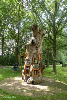 De (B)ruilboom. - De Bruil - Ruurlo .The smallest library of Holland made of an old chesnuttree.