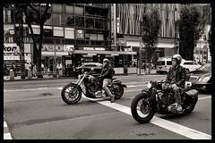 Tokyo: Impressions of a great city (Matthias Harbers) Tags: nikon 1 v3 dxo photoshop japan bw black white 6713mm nikkor outdoor architecture elements topaz labs omot tokyo metropolitan living home monochrome city street life impression car