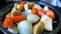 Air fryer cooking (Sandy Austin) Tags: panasoniclumixdmcfz70 sandyaustin massey westauckland auckland food airoven airfryer roast vegetables sausages northisland newzealand