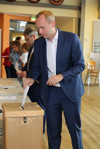 Stimmabgabe zur Bundestagswahl 2017 in Metjendorf.