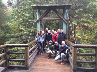 Awesome group from todays hike in Capilano, North Vancouver!