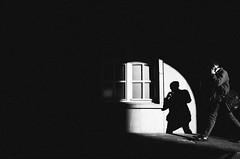 wicked window (matthias hämmerly) Tags: candid street streetphotography shadow contrast grain ricoh gr black white bw monochrom monochrome city town urban blackandwhite strasse people monochromphotography einfarbig personen silhouette dark berlin jogging spot wall windows lights sun morning gebäude fenster landstrase architektur geometrisch linien arc man