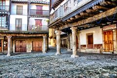 La Alberca 01 (alanchanflor) Tags: laalberca salamanca castilla españa canon color pueblo piedra plaza columnas luz dia balcones cornisas