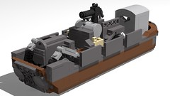 WW1 Landing Craft with Scout Car (GBDanny96) Tags: lego moc landing craft world war 1 ww1 battlefield scout car military vehicle