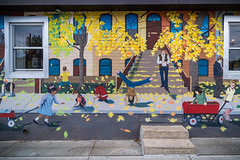 Bricks and Wagons: A Greenwood Allegory (A Great Capture) Tags: arte cityscape urbanscape eos digital dslr lens canon 70d outdoor outdoors vibrant colorful cheerful vivid bright design stairs leaves leaf foliage autumnleaves branch branches streetphotography streetscape street calle fabulous fabuleuse art streetart mural gerrard greenwood avenue brickyard grounds café leslieville picture efs1018mm 10mm city downtown urban spring springtime printemps 2017 agreatcapture agc wwwagreatcapturecom adjm ash2276 ashleylduffus ald mobilejay jamesmitchell toronto on ontario canada canadian photographer northamerica torontoexplore