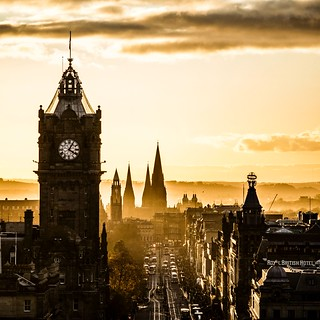 Princes Street at Sunset, Edinburgh (Revisited)