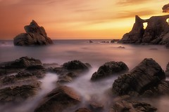 Rocks, rocks, rocks and more rocks. (Anto Camacho) Tags: landscape bigstopper rocks light sunset seashore lloret mediterraneansea nature waterscape sun clouds