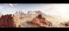 The Path To Nowhere (~Scimo~) Tags: panorama widescreen landscape mountain sky screenshot hzd landschaft ps4