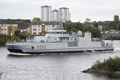 KNM Rauma (rjonsen) Tags: boat vessel military clyde river sailing water war ship exercise grey