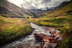 mountain stream (Chrisnaton) Tags: mountainstream serfaus creek mountains nature alpine lausbach snowymountains landscape alpinemeadow mountainvalley