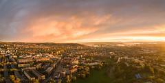 OSLO (eriknst) Tags: city landscape skyline sky clouds pano drone mavic color fall autumn torshov oslo norway norwegen norvege sunset