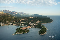 Final into Dubrovnik (gc232) Tags: avgeek aviation pilots view dbv dubrovnik airport final approach land landing livefromtheflightdeck live from flight deck golfcharlie232 aerial croatia landscape sea beach drone altitude fly flying travel