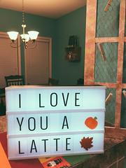 Loving my new lightbox sign!