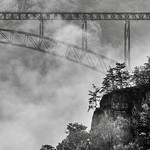 New River Gorge Bridge in B & W thumbnail