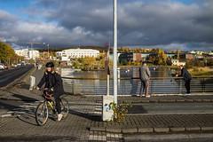 DSC02679 (Guðmundur Róbert) Tags: hafnarfjörður street photography sony a7ii mitakon 50mm f095 f14 f12 black white landscape autumn haust ísland iceland icelandic ljósmyndun hfj götu a7 walking walk sun sky water