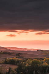 Tuscany's rolling hills (Nick Panagou) Tags: light landscape longexposure sky sunset sunsetlight mountains hill hills hiking fall autumn beautiful tuscany italy sunsetsky travel trip bestshotoftheday bestphotographer orange outdoor orangeskies flickrsbest flickrinteresting flickrnature forest trees contrast clouds colours cloudysky canon6d sun silhouettesshadows superphotographer rollinghills