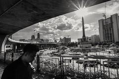 Victory Monument, Bangkok, Thailand (jainpichan) Tags: nikon d610 tamron 1735mm thailand bangkok asia street blackandwhite bw wide wideangle tamron1735 tamron1735f284