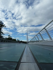 Sundial Bridge, Redding, CA - P1190230 (tend2it) Tags: turtle bay ca california redding sac sacramento river bridge sundial cable santiago calatrava pedestrian