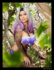 Nozomi (madmarv00) Tags: d600 makapuu nikon asian girl hawaii japanese kylenishiokacom model oahu outdoor tattoo woman bikini blonde trees woods forest