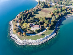 Aerial photo of Promontory Point in Chicago
