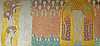 Gustav Klimt - part of the Beetvoven-frieze in the Villa of the Secession (petrus.agricola) Tags: bildendekunst wien symbolismus gustav klimt beethoven fries frieze secession ornament 1902