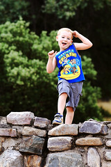 Strike a Pose (deserttrumpet) Tags: boy childhood outside outdoors hike fun play arizona