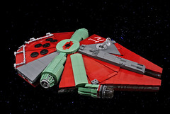 "Slave XII - ""The Boba"" (CeciΙie) Tags: moc lego starwars sw millenium falcon boba fett slave freighter yt 1300 space spaceship corellian"