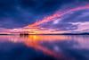 sunset 7526 (junjiaoyama) Tags: japan sunset sky light cloud weather landscape purple orange contrast colour bright lake island water nature autumn fall