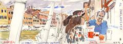 171006venezia01 (Vincent Desplanche) Tags: venise venezia sketching sketch croquis urbansketchers italia italy aquarelle watercolor matiteinviaggio seawhiteofbrighton seawhitesketchbook