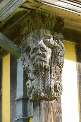 DSC02355 (rowchester) Tags: stokesay castle shropshire english heritage wood carving
