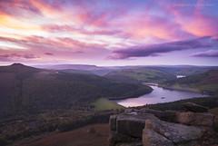Peak Sunset (marc_leach) Tags: bamfordedge highpeak darkpeak hopevalley ladybower reservoir sunset peakdistrict landscape colour sky clouds nikon