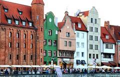 Motlawa River Embankment (Dlugie Pobrzeze) Gdansk, Poland (jackfre 2 (sick)) Tags: poland gdansk danzig hanseaticcity port embankment rivermotlawa motlawariverembankment dlugiepobrzeze river boats