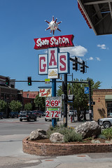 Out of this World Gasoline (string_bass_dave) Tags: co colorado flickr steamboatsprings unitedstates gas gasstation greatsign sign