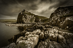 Don't Throw the Baby Out With the Bath Water (SkyeWeasel) Tags: scotland skye duntulmcastle castle ruin legend landscape cliff rocks