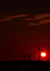 Sunset Silhouettes (AJ Jones Photography) Tags: sunset sky silhouette shadow renewableenergy windenergy environment builtenvironment rurallandresources clouds atmospheric sundown wind farm windfarm