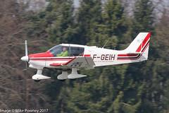 F-GEIH - 1985 build Robin DR400/180 Regent, inbound to Runway 24 at Friedrichshafen during Aero 2017 (egcc) Tags: 1689 aero aerofriedrichshafen aerofriedrichshafen2017 aeroclubdechallesleseaux bodensee dr400 dr400180 edny fgeih fdh friedrichshafen lightroom regent robin