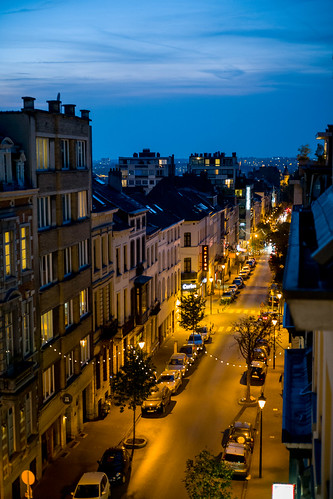 Evening mood in Brussels
