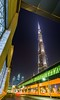 Touching the sky... (hacenem) Tags: businessbay dubai longexposure night burj khalifa