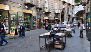 Libraires et bouquinistes, via Port'Alba, , Naples, Campanie, Italie.