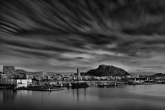 Alicante (T.Seifer) Tags: architecture castillo blackandwhite blackwhite clouds cityscape fx alicante europe travel tourism outdoors longexposure whiteandblack whiteblack wolken santa barbara port einfarbig stadt