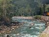 Steaming past the Animas River rapids R1004199 Durango & Silverton RR (Recliner) Tags: baldwin dsng drg