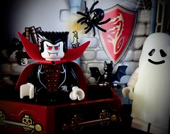 Happy Halloween (Pufalump) Tags: halloween macromondays lego dracula ghost bats spider spooky