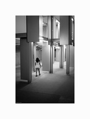 "walking @ ""Longer Journeys"" By Pedro Cabrita Reis (© joaquim nunes) Tags: art blackwhite city leica leicam8 monocromático monocromatic portugal blancoenegro"