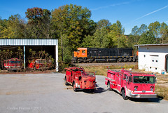Classic Collection (Wheelnrail) Tags: fire truck alco mlw montreal locomotive works western new york pennsylvania wnyp museum collection 20 century industry railroad rail road train trains rails emporium turn fall autumn north cool hell