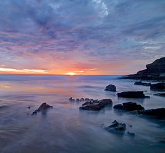 You're so good to me (pauldunn52) Tags: witches point wales glamorgan heritage coast sunset long exposure pink blue sea cliffs sky