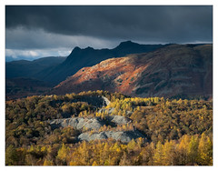 Big Country - in explore (Dave Fieldhouse Photography) Tags: langdale langdalepikes langdalevalley lingmorefell hodgeclose quarry lakedistrict lakes mountains slate autumn trees woodland colours moody clouds sky landscape wilderness wild fells shadows storm fuji fujifilm fujixt2 wwwdavefieldhousephotographycom nationalpark cumbria cumbrianmountains lancashirelife o
