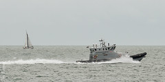 Yacht and the Border Force Eagle (philbarnes4) Tags: borderforce eagle rib philbarnes dslr nikond5500 broadstairs thanet kent england patrol view law immigration enforcement lawenforcement spray