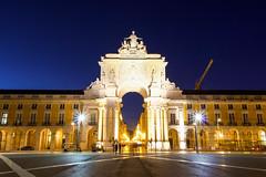 Praca do Comercio (joscelyn_p) Tags: lisbon lisboa portugal longexposure longexpo bluehour canon lightroom evening night twilight